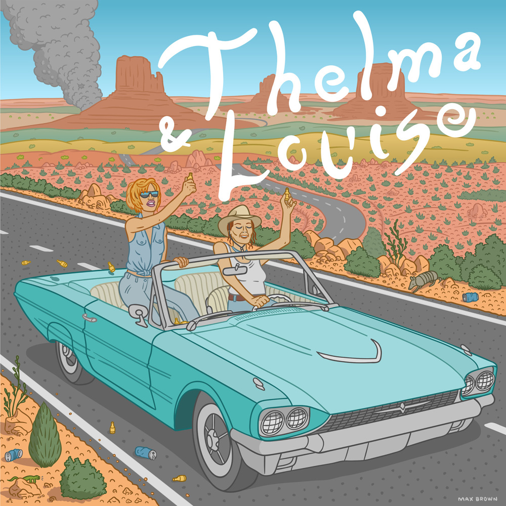 thelma amp louise print orange year
