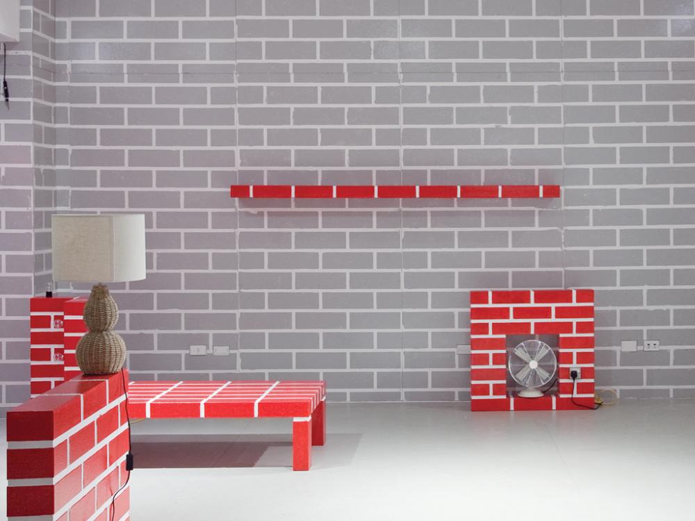 furniture brick. plain brick red brick wall no 5 post design memphis srl milan 2011 in furniture