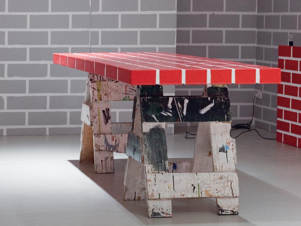 {image 6captionu003d Red Brick Shelf No. 2, Post Design, Memphis SRL, Milan,  2011}