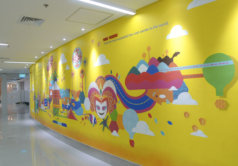 Ceb environmental graphic design studio dialogo inc from murals cafeteria graphics way finding signs maps and meeting room graphics we worked in conjunction with the buildings architect to seamless gumiabroncs Gallery